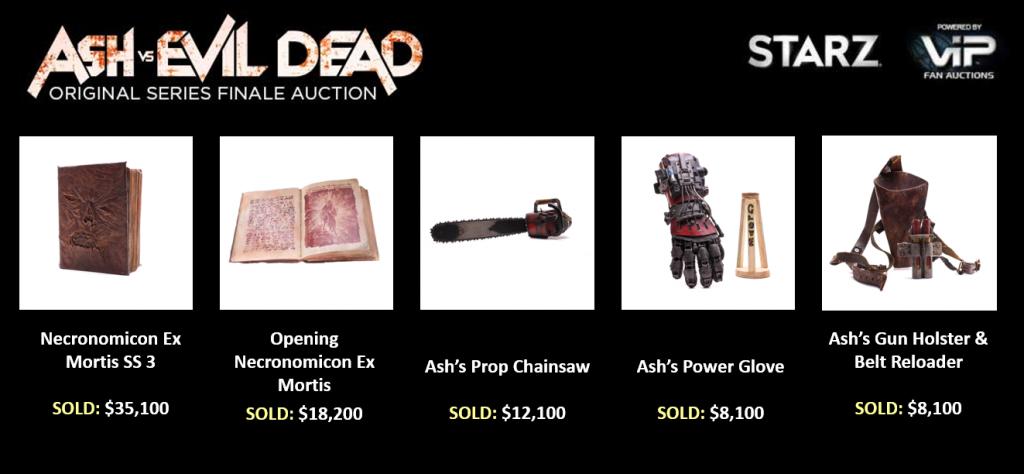 Ash vs Evil Dead Auctions