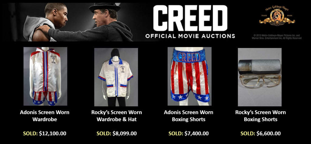 Creed Auction Featured items